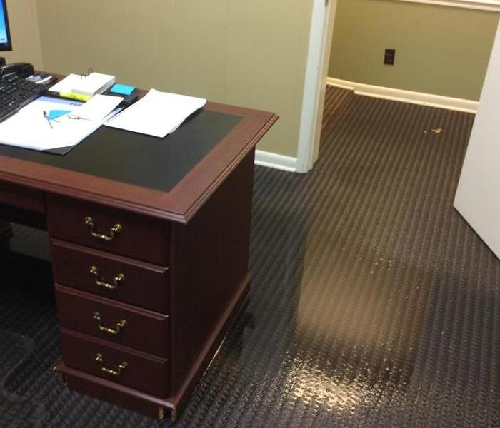 Commercial Water Damage At Gateway Financial Before