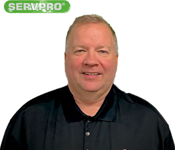 David LaPointe for SERVPRO photo on white wall