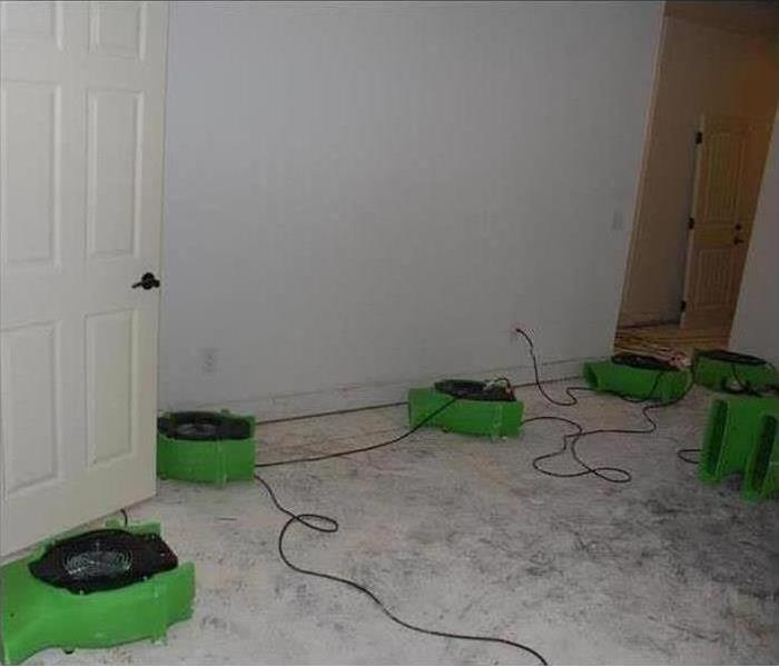 Air movers in a Florida home after a tropical storm